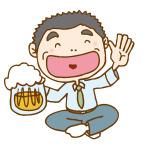 懇親会でお酒を飲む税理士