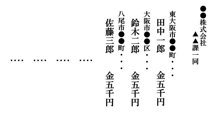 連名香典別紙